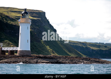 Scotland, Isle of Mull. Rubha nan Gall Lighthouse on the north coast of the Isle of Mull - Stock Photo