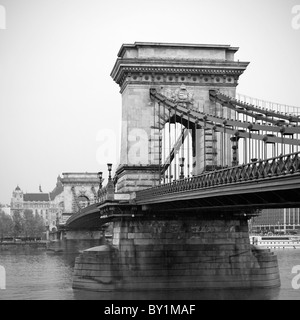 Szechenyi Chain Bridge - Stock Photo