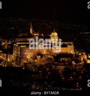 Buda Castle at night - Stock Photo