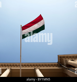The national flag of Hungary - Stock Photo