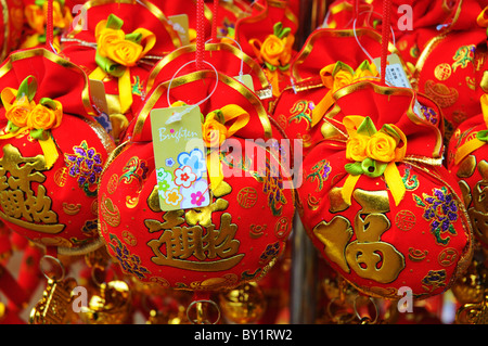 Chinese New Year Decorations For Sale   Stock Photo