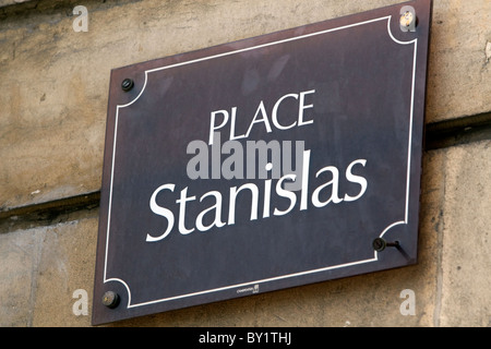 Sign for Place Stanislas in Nancy, France. - Stock Photo