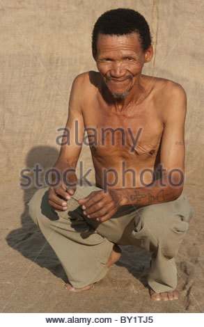 Portrait of old Muslim African Man by explorer Kypros - Mozambique Africa - Stock Photo