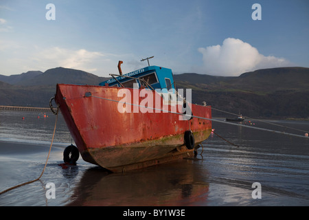 The Mawddach Way in Wales long  distance footpath - Stock Photo