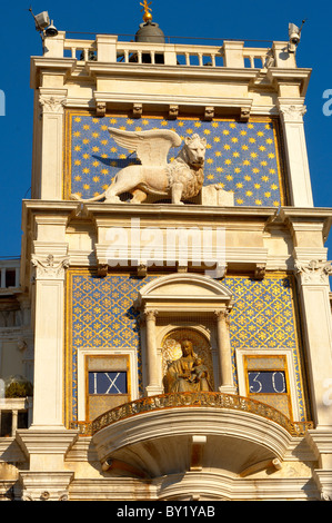 The Bell Tower - Saint Mark's Square - Venice Italy - Stock Photo