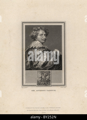 Self portrait of Sir Anthony Vandyck (1598-1641). - Stock Photo