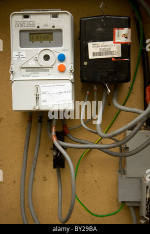 Electricity meter cables box - Stock Photo