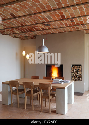 Terracotta Floor Tiles And Wooden Furniture In