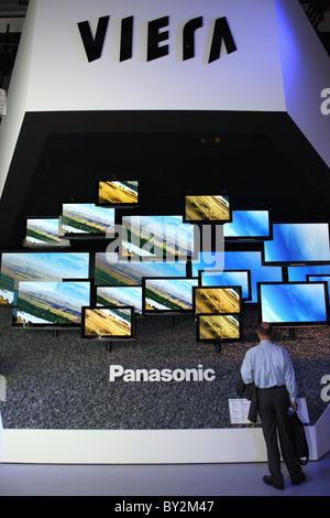 The stand of Panasonic at IFA 2008, Berlin, Germany - Stock Photo