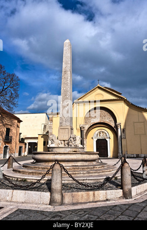Church od Santa Sofia Benevento, Archeological Museum - Unesco official candidate Campania, Italy - Stock Photo