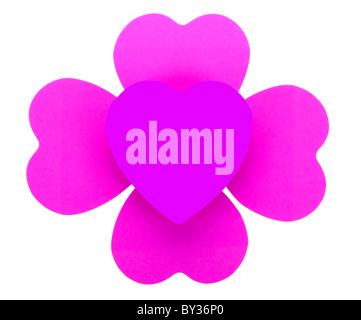 Graphic image of Purple Hearts - Stock Photo