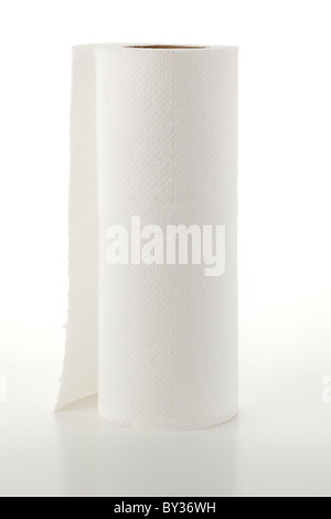 White kitchen roll - Stock Photo
