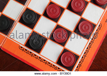 Draughts Board Game - Stock Photo