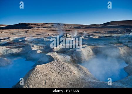 Sol de Mañana Geysers, Salar de Uyuni, Bolivia - Stock Photo