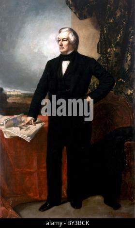 Millard Fillmore, President Millard Fillmore was the 13th President of the United States - Stock Photo
