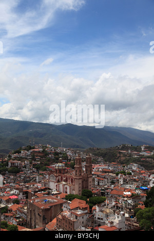 Santa Prisca Church, Taxco, Guerrero State, Mexico, North America - Stock Photo