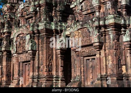 Ruins of temple, Banteay Srei Temple, Banteay Srei, Angkor, Cambodia
