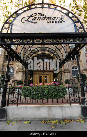 canopy over the entrance to the landmark hotel - Stock Photo