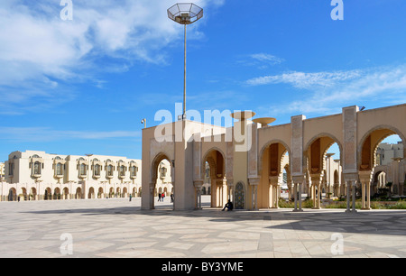 Casablanca Innenstadt, Moschee in der Innenstadt, Hassan II.-Moschee, Casablanca city center, mosque in the city,