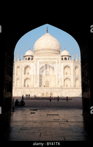 The Taj Mahal in Agra - Stock Photo