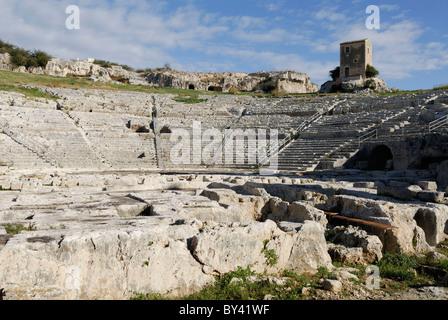 Siracusa. Sicily. Italy. Greek Theatre. Parco Archeologico della Neapolis. Teatro Greco.