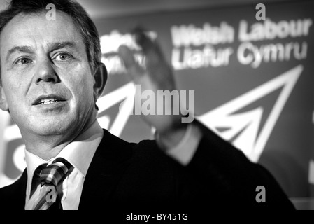 Tony Blair at Welsh Labour Conference. - Stock Photo