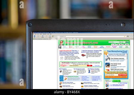The MoneySavingExpert.com website, UK - Stock Photo