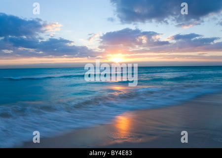 Sunrise, South Beach, Miami, Florida, USA - Stock Photo