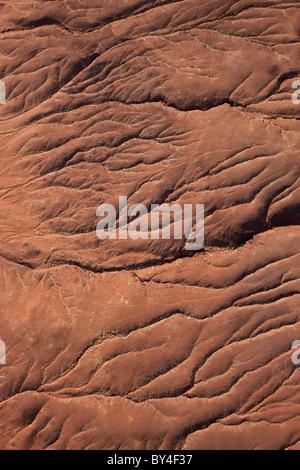 Dried river bed, Namib Desert, Namib Naukluft Nat Pk, Namibia - Stock Photo