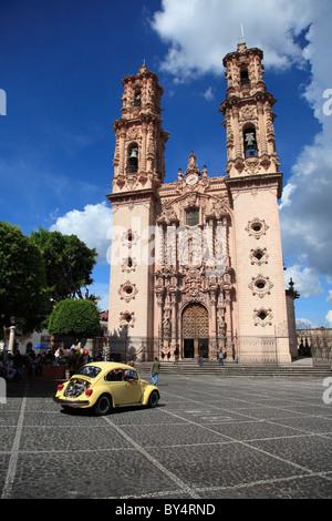 Santa Prisca Church, Plaza Borda, Taxco, Guerrero State, Mexico, North America - Stock Photo