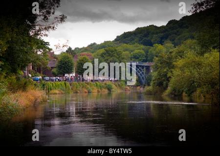 The River Severn at Ironbridge Gorge - Stock Photo