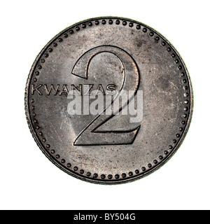 2 Kwanza coin - Angola - Stock Photo