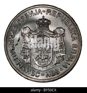Serbian coin Dinar - Stock Photo