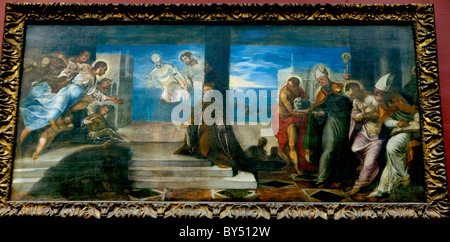 Doge Alvise Mocenigo (1507–1577) Presented to the Redeemer, probably 1577, by Tintoretto - Stock Photo