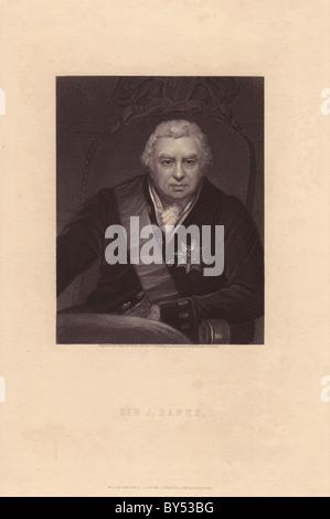 Sir Joseph Banks (1743–1820), English naturalist, botanist and explorer. - Stock Photo
