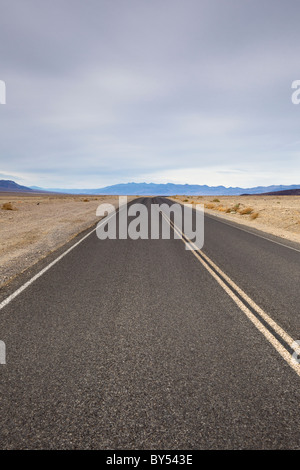 Death Valley Scenic Byway, California Highway 190, cutting through the Panamint Valley in Death Valley National - Stock Photo
