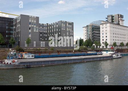 Inner harbour, Duisburg, Germany. - Stock Photo