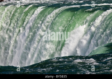 Canada,Ontario,Niagara Falls, close-up view of the brink of the Canadian Falls - Stock Photo