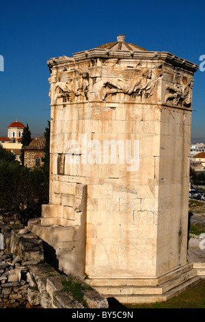 Roman Agora(market) in old Athens Greece - Stock Photo