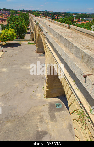 Aqueduc Saint-Clément. Montpellier. Herault. Languedoc-Roussillon. France. - Stock Photo