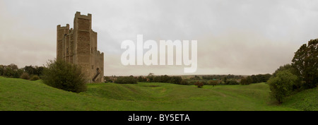 landscape image of orford castle in Suffolk, 12th century castle built by Henry II - Stock Photo