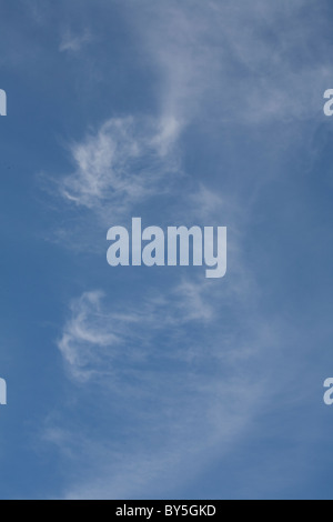 vertical image of cirrus clouds - Stock Photo