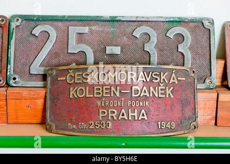 sign of locomotive, Banovici, Bosnia and Hercegovina - Stock Photo