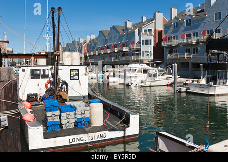 Private and commercial fishing boats docked outside jimmy for Boat fishing near me