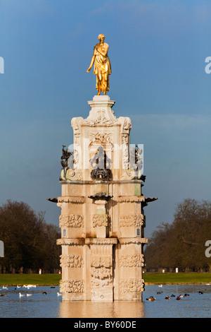 The Diana Fountain in Bushy Park Hampton Surrey England - Stock Photo