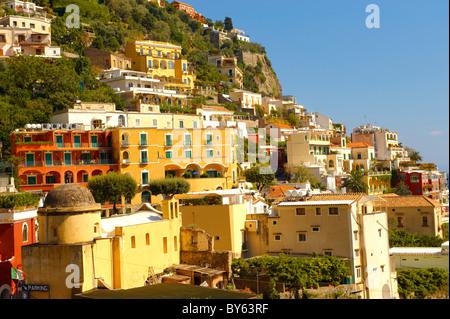 Positano town - Amalfi caost - Italy - Stock Photo