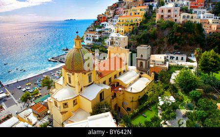 Positano town - Amalfi caost - Italy - Stock Photo
