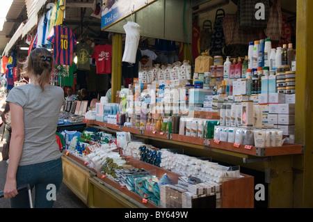 Israel, Tel Aviv, The outdoor Carmel Market - Stock Photo
