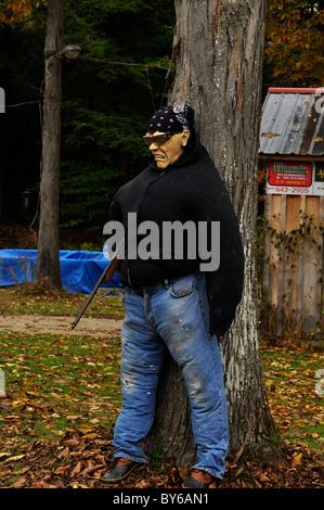 A Halloween Fake Human in Upstate New York - Stock Photo