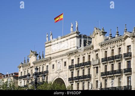 Banco de Santander in Cantabria Spain - Stock Photo